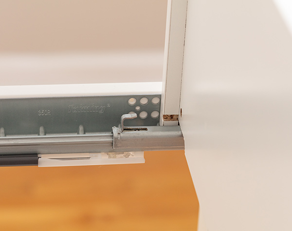 drawer hook and hole