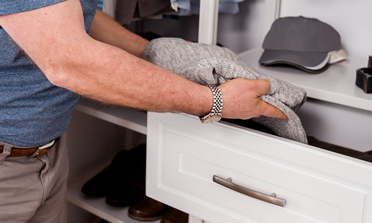 placing top in a drawer
