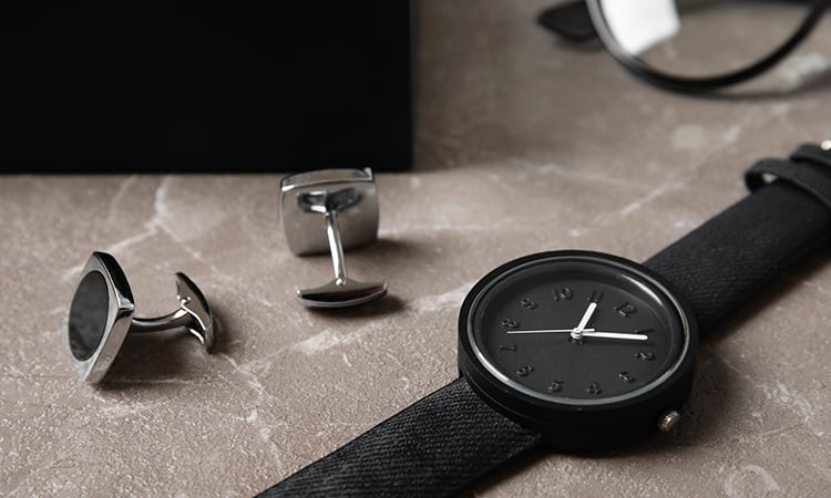 watch and cuff links