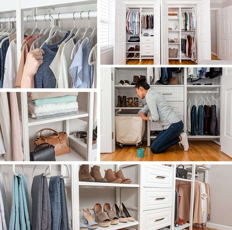 collage of closet images