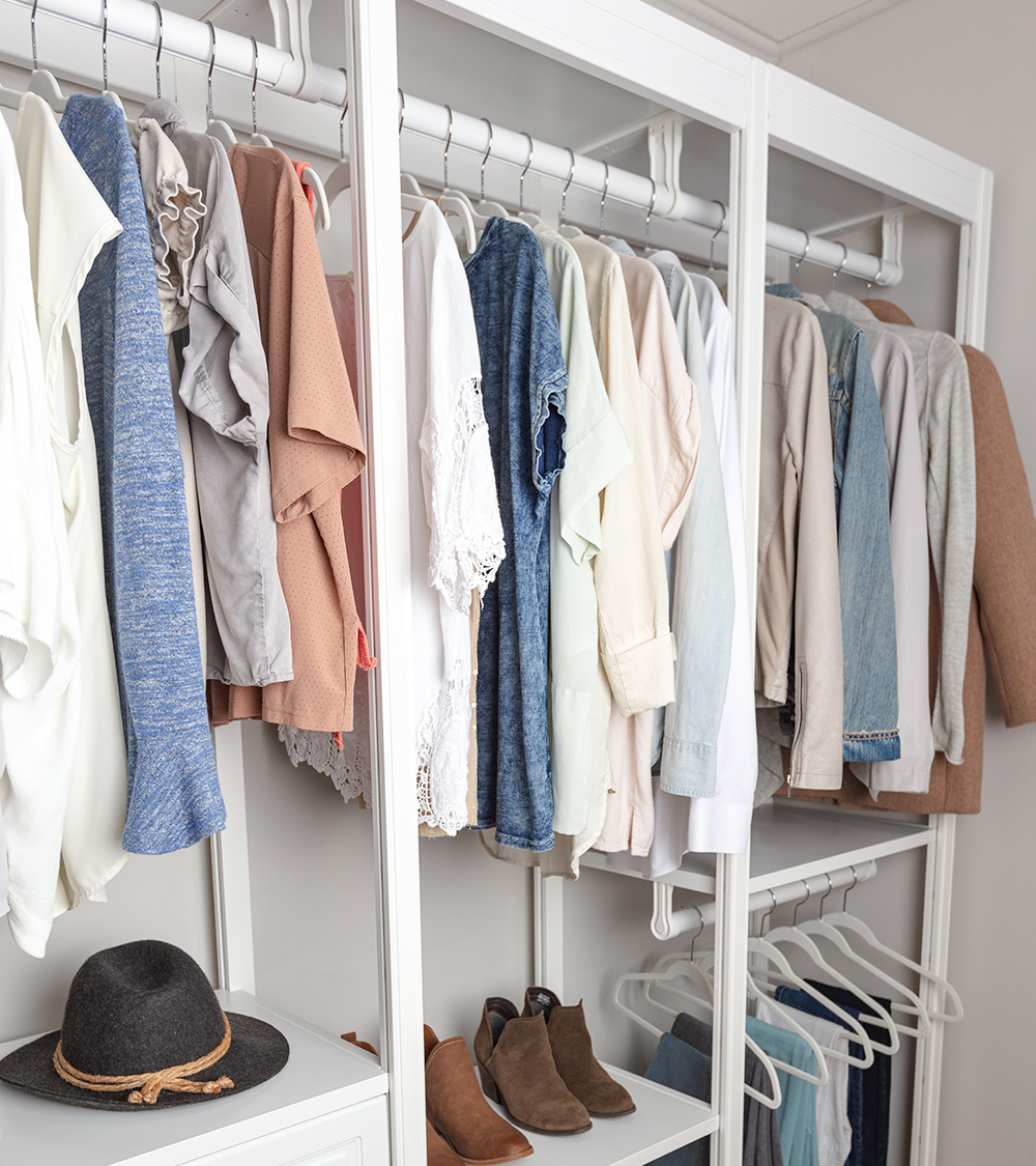 top rack of closet storage