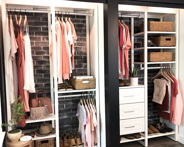 two four-foot closets