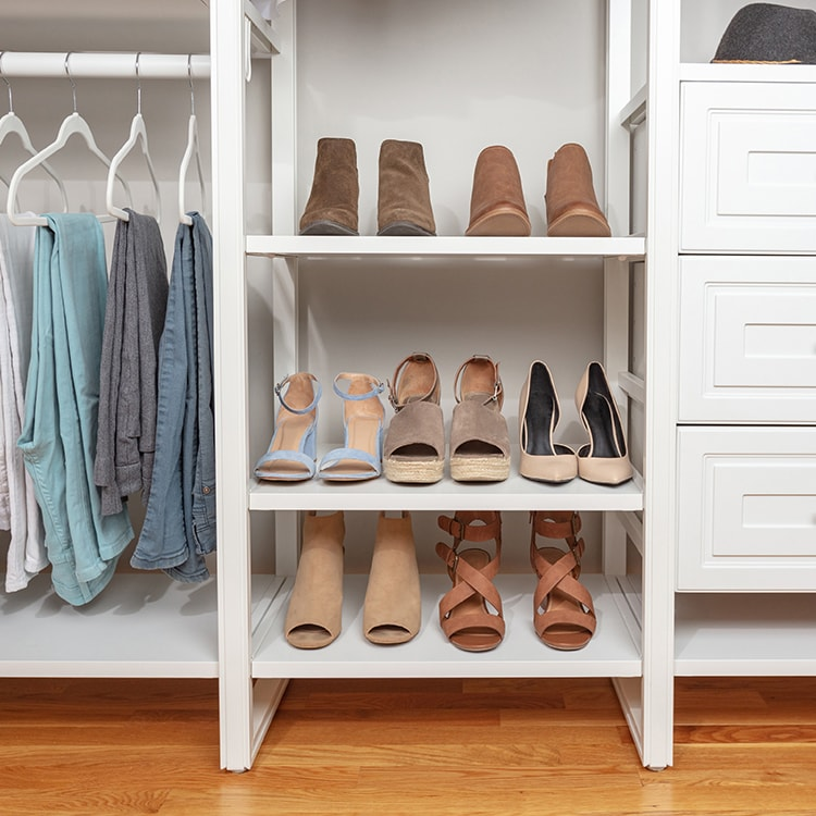 shoes in a closet