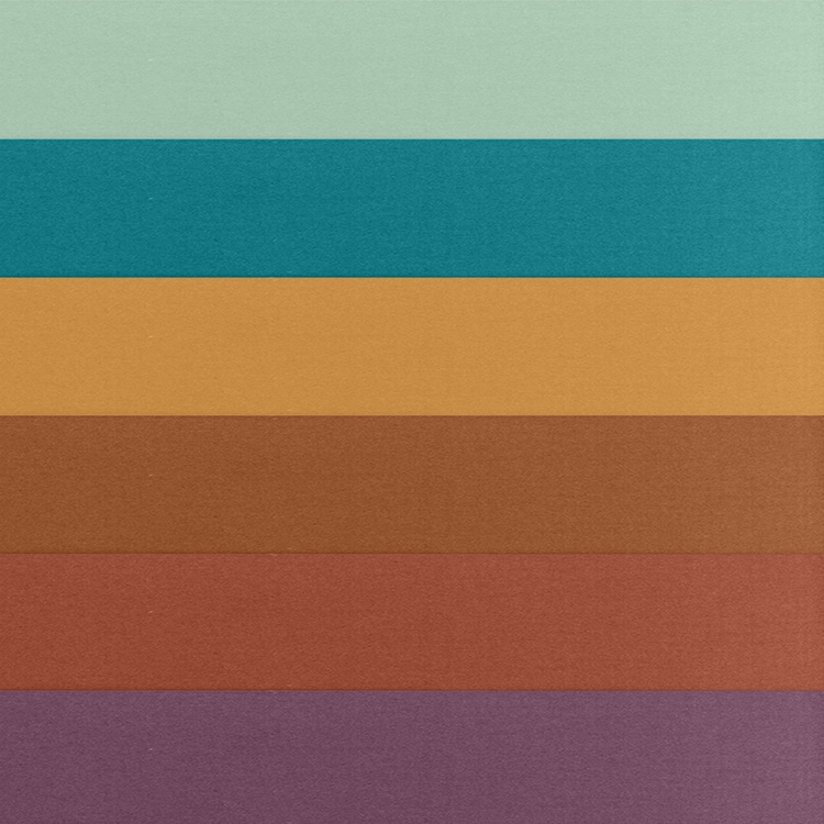 Behr Color Swatches: Wishful Green, Carribe, Saffron Strands, Maple Glaze, Kalahari Sunset, Euphoric Magenta