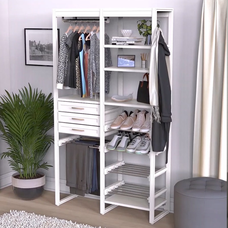 Closets by Liberty system with shoe storage